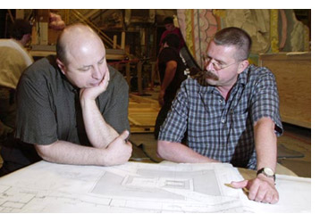 With Production Designer Peter Werner